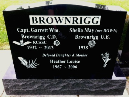 Upright Double - Black Granite | Thompson Funeral Service